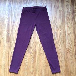 Ann Taylor LOFT Purple Leggings Size Medium